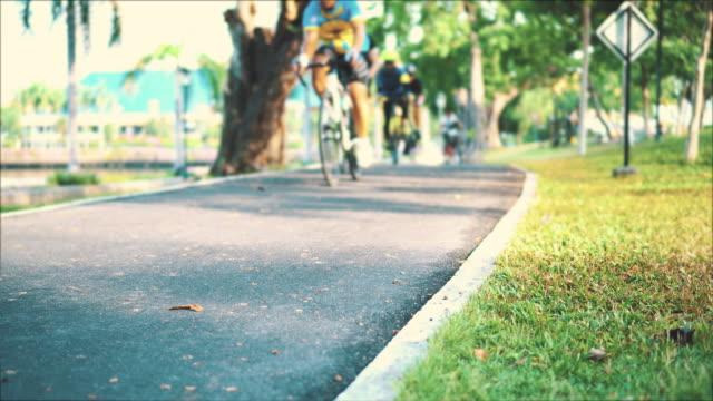 Bike lane in public park video