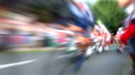 Bike Race Slow Motion. HD video