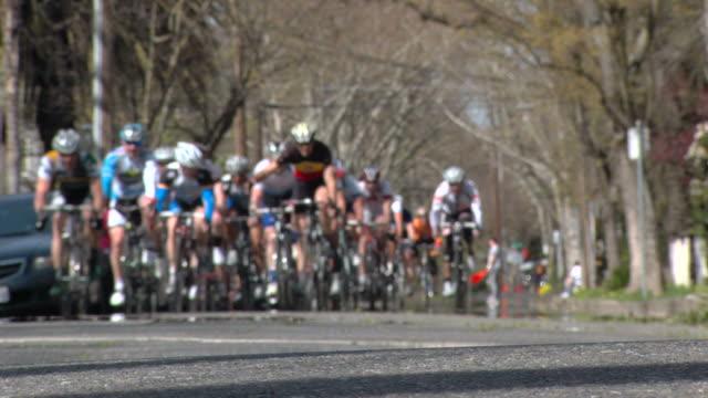 Bike Racers Enter Left Turn video
