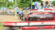 Bike Traffic accident. Emergency services. Police. video