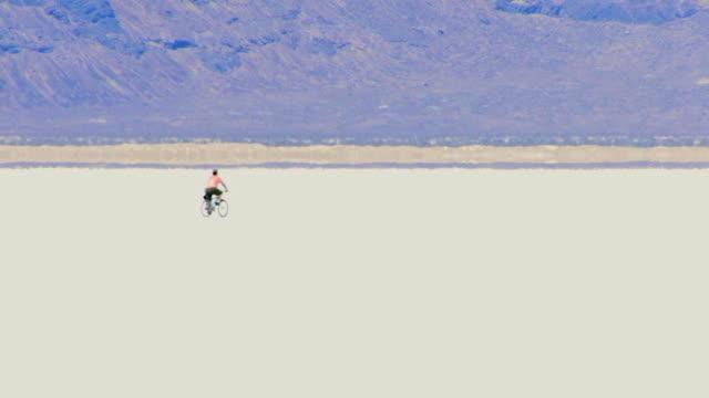 Biker and Desert  Four Clips HD video