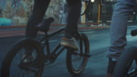 BMX biker driving in the streets video