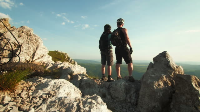 HD: Bikers Enjoying A View From The Ridge video
