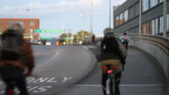 Bikers in Portland, Oregon video