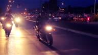 Bikers race video