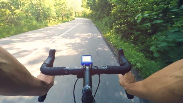 POV biking in a beautiful summer day. video