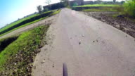 Biking Rider's Perspective on country road video