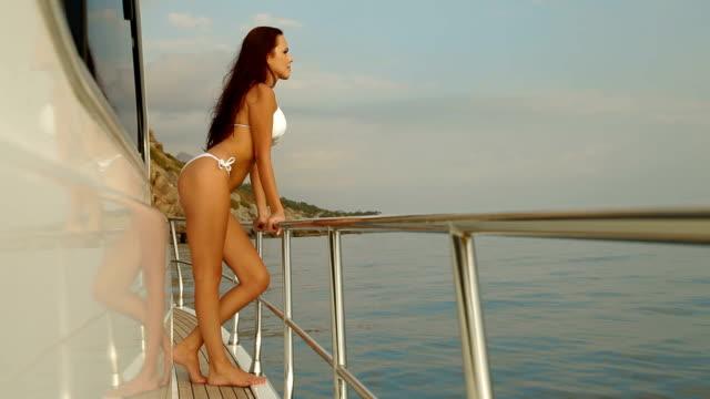 Bikini Beauty on Luxury Yacht video