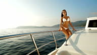 Bikini Beauty on Luxury Yacht video
