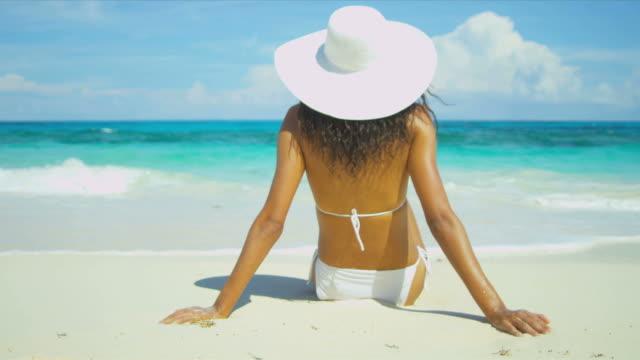 Bikini Girl Relaxing Dream Paradise Island video