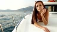 Bikini Woman on Luxury Yacht video