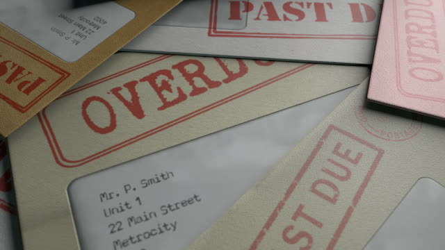 bill letters spiral piling up video