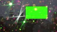 Billboard green screen Chroma key Colored snow glitter New York City video