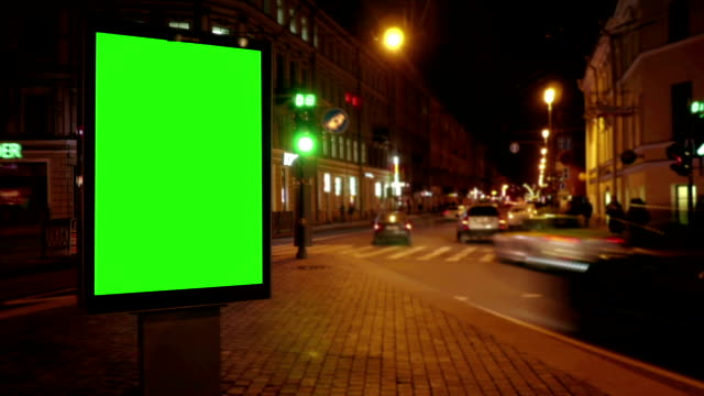 A Billboard with a Green Screen video