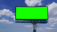 Billboard with green screen chroma key video
