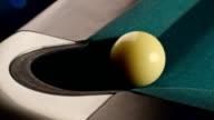 Billiard ball goes into corner. 6 in 1. video