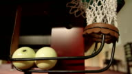 Billiard balls in corner pocket video