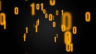 Binary code background animation video
