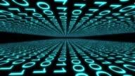 binary code computer data cyberspace graphic animation video