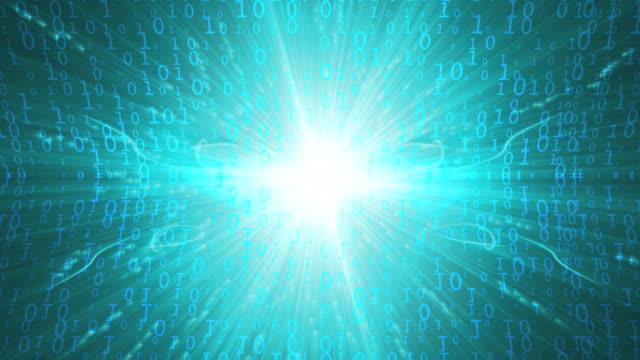 Binary Code Light Blue video