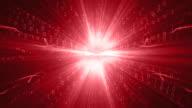 Binary Code Red Background Loop video