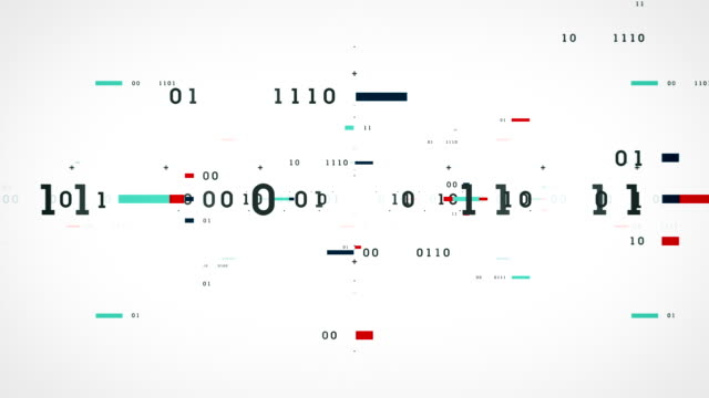 Binary Data Bits White video