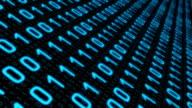 Binary data hacker attack conception video