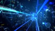Binary digital tunnel journey video