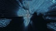 binary digital world computer data code cyberspace graphic animation video