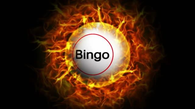 Bingo Ball and Flames Background, Loop video