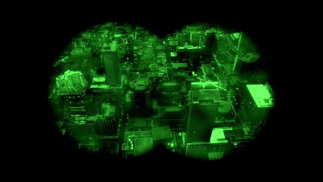 Binoculars Searching City video