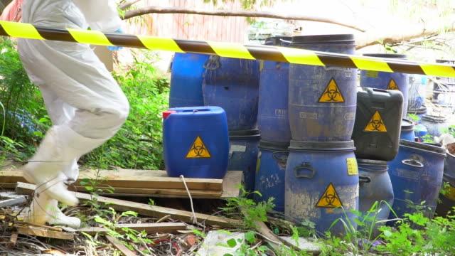 Biohazard barrel video