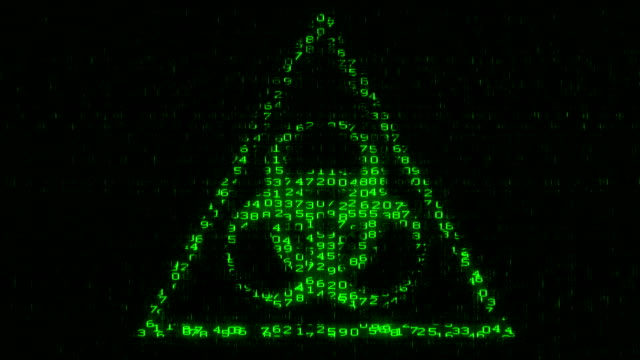 Biohazard Sign - Digital Data Code Matrix video