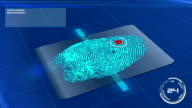 Biometric Fingerprint Scan Accepted video