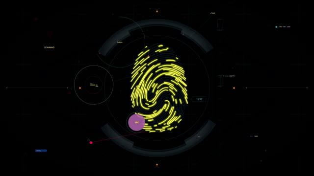 Biometric identification, fingerprint scan, access granted. System authorization video