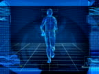 Bionic 3D Man Running (Loop) video