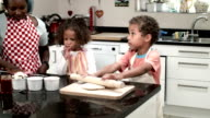 HD: Biracial Boy and Girl Being Supervised By Carer/ Mother video