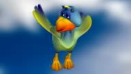 Bird character video
