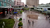 Bird view of shopping plaza, Taipei, China video