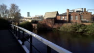 Birmingham City from a bridge over the Digbeth Branch Canal. video