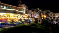 Birmingham German Christmas market carousel time lapse. video