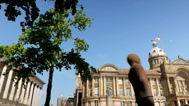 Birmingham Victoria Square and Council House. video