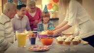 Birthday boy getting a surprise birthday cake video