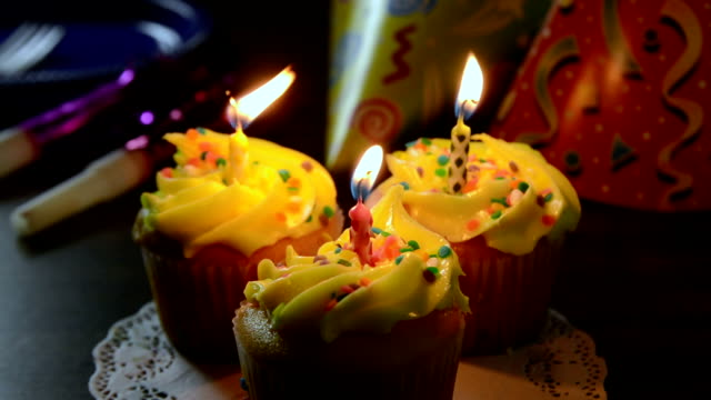 Birthday candles video