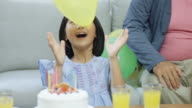 Birthday Girl Playing with a Balloon. video