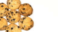 Biscuits with chocolate raisins video