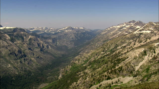 Bitterroot Mountains Past Lake Como  - Aerial View - Montana,  Ravalli County,  helicopter filming,  aerial video,  cineflex,  establishing shot,  United States video