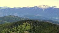 Bitterroot Range  - Aerial View - Montana, Sanders County, United States video