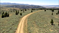 Bivens Creek Ridge Road  - Aerial View - Montana, Madison County, United States video