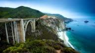 Bixby Bridge at Big Sur California video